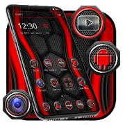 Red and Black Launcher Theme