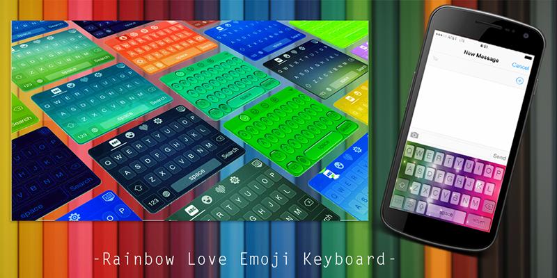 Rainbow-Love-Emoji-Keyboard 2