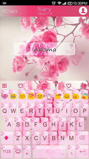 Aroma Emoji Keyboard Theme