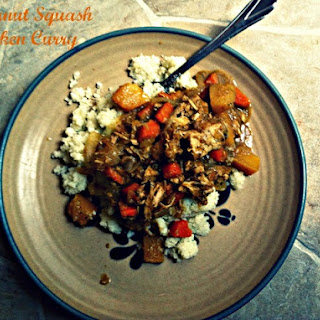Butternut Squash and Chicken Curry Over Coconut Cauliflower Rice Recipe