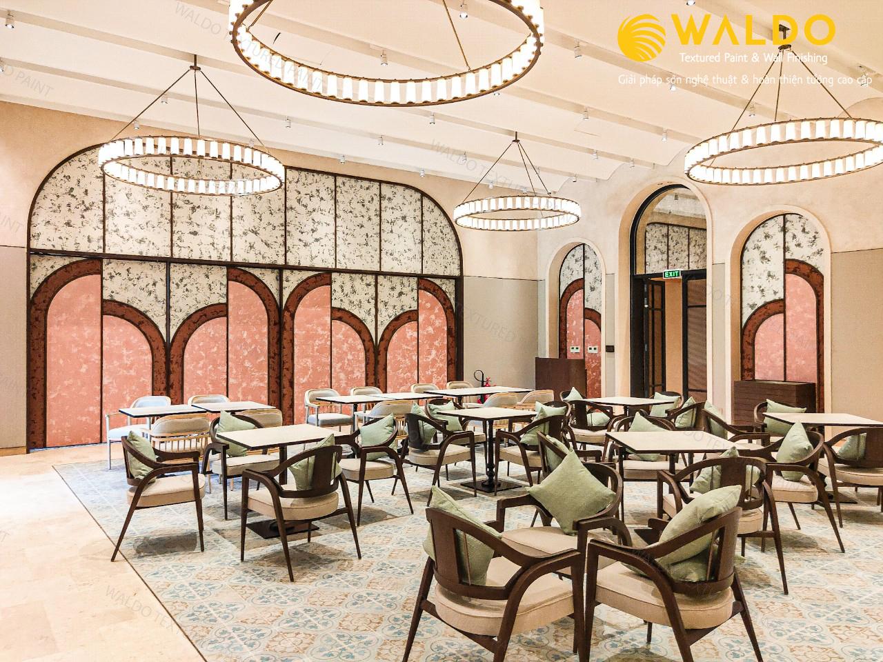 Sơn hiệu ứng Waldo-Sơn hiệu ứng nhũ nhung ngọc trai dành cho thiết kế khách sạn