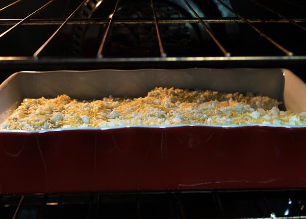 Bake covered for about 30 to 40 minutes, until bubbly. Remove the cover and...