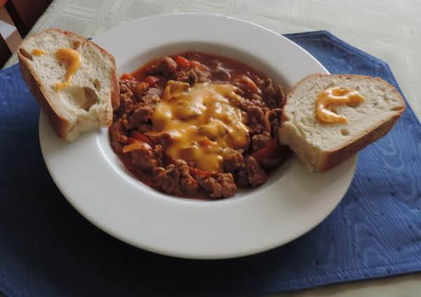 Boardwalk Chili...right From The Jersey Boardwalk, Combining Two Favorites, Italian Sausage And Peppers Sandwich And Philly Cheesesteak Sandwich Into One Delicious Meal!