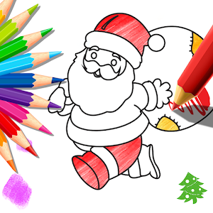 Xmas Coloring Book For Kids Icon