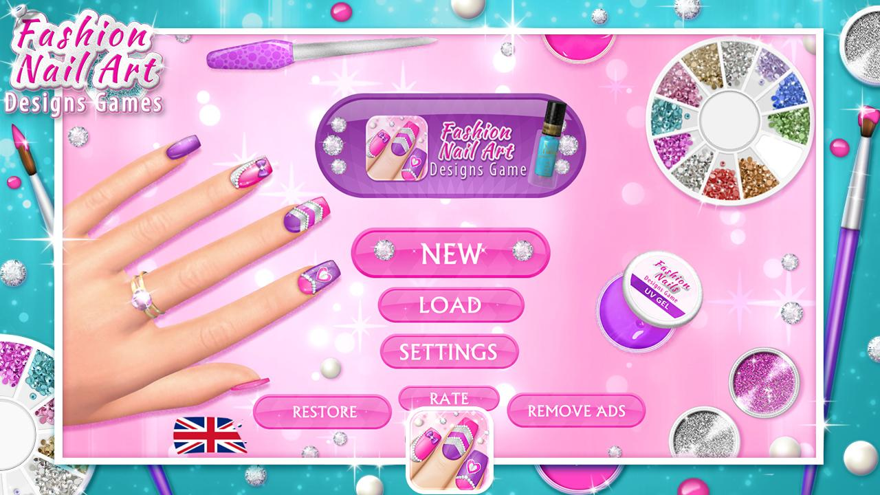 Fashion nail art designs game android apps on google play fashion nail art designs game screenshot prinsesfo Images