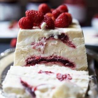 Raspberry Amaretto Semifreddo {dairy free}.
