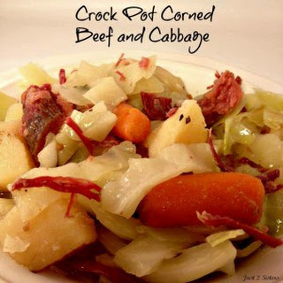 Crock Pot Corned Beef and Cabbage.