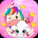 Cute Wallpaper _ kawaii unicorns backgrounds icon
