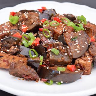 Vegan Vietnamese Tofu and Eggplant.