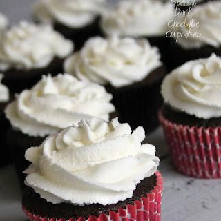 Special Dark Chocolate Cupcakes.