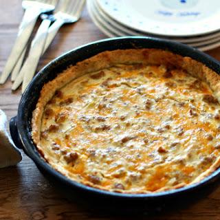 Breakfast Pie with Flaky Herb Crust.