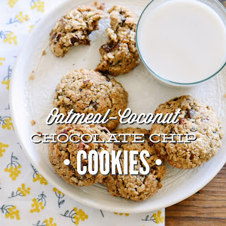 Oatmeal-Coconut Chocolate Chip Cookies.