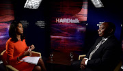 Deputy President Cyril Ramaphosa during an interview with BBC Hardtalk's Zeinab Badawi.