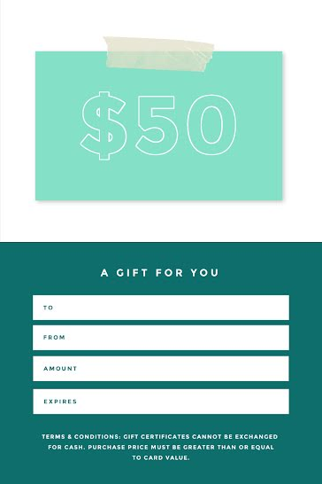 A Gift for You Green - Gift Certificate Template