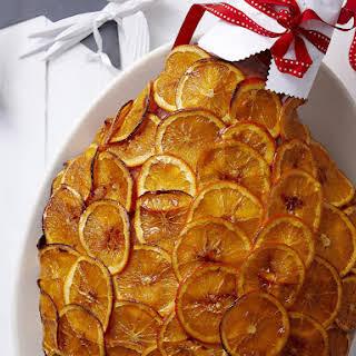 Orange and Whiskey Glazed Ham.