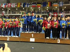 Photo: Mia Norbeck Jensen, Tanja Gromada, Maria Saxild-Hansen og Camilla Svensson. EM bronzemedalje