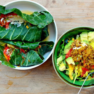 Green Tacos and Green Taco Salad [Vegan, Gluten-Free].