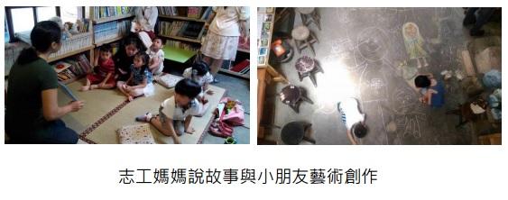 志工媽媽說故事與小朋走藝術創作