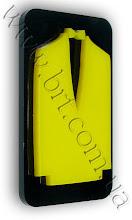 Photo: Табличка для туалета с объемными элементами. Акрил черного и желтого цветов