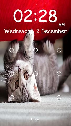 android Kitty Pattern Lock- Screenshot 6