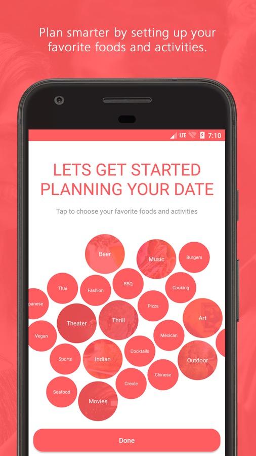 DateCart — Date Planning App (Unreleased)- screenshot