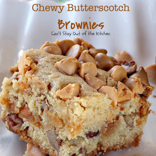 CHEWY BUTTERSCOTCH BROWNIES.