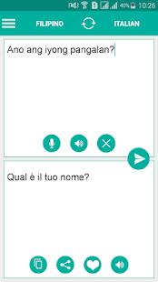 Filipino Italian Translator - náhled