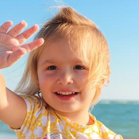 hello by Asya Atanasova - Babies & Children Child Portraits ( girl child, beach, smile, girl toddler )