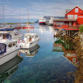 Calm harbour.... by Roger Gulle Gullesen - City,  Street & Park  Vistas