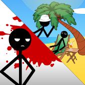 Stickman Death on the Beach