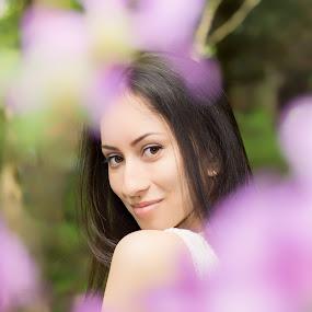 Monika by Grzegorz Wagner - People Portraits of Women ( beautiful, hair, beauty, brown eyes, girl, eyes )