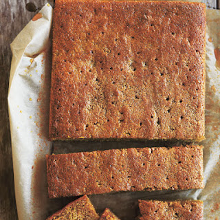 Spiced Polenta Pumpkin Syrup Cake Recipe