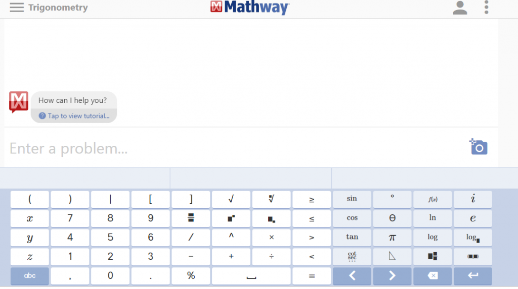 Math way uses a calculator display and solves your problems