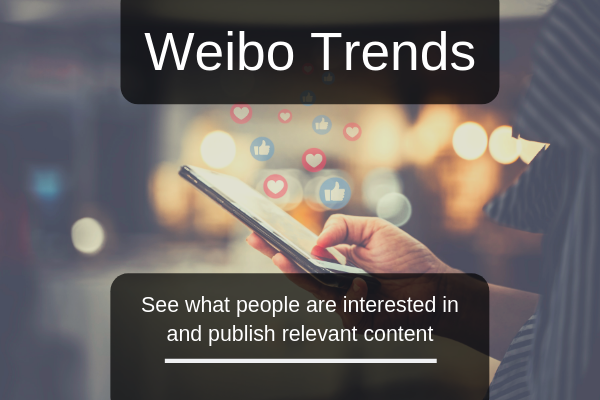 Weibo marketing trend data is available within the social media platform