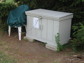 Photo: July 13, 2012 - New storage bin designed and built by club member Bob Spaulding.  A big thank you to Bob!