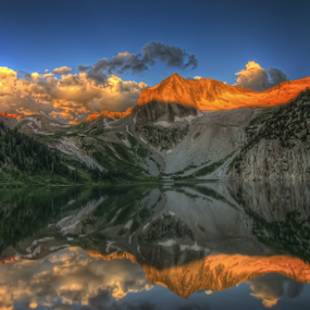 Alpenglow At Snowmass by Sawyer Moch - Landscapes Mountains & Hills