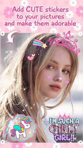 Cute Stickers for Photos ud83dudc9d Girl Pic Editor 1.0 screenshots 3