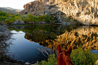 Photo: Reflections at the end of a great ride in Idaho!