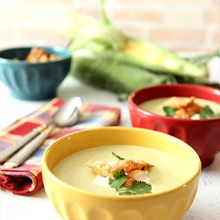 Roasted Poblano Pepper and Corn Soup.