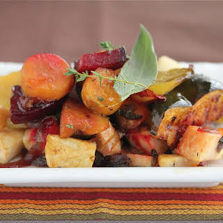 Easy Oven Roasted Vegetables with Sage and Thyme.