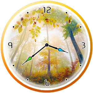 Autumn Analog Clock