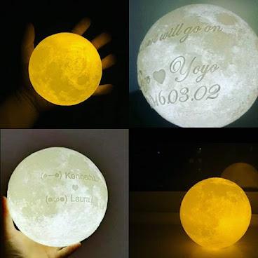 3D Print月球燈