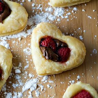 Nutella Raspberry Hearts