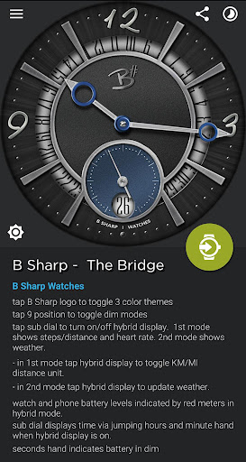 Download The Bridge - Luxury face for smart watches MOD APK 6