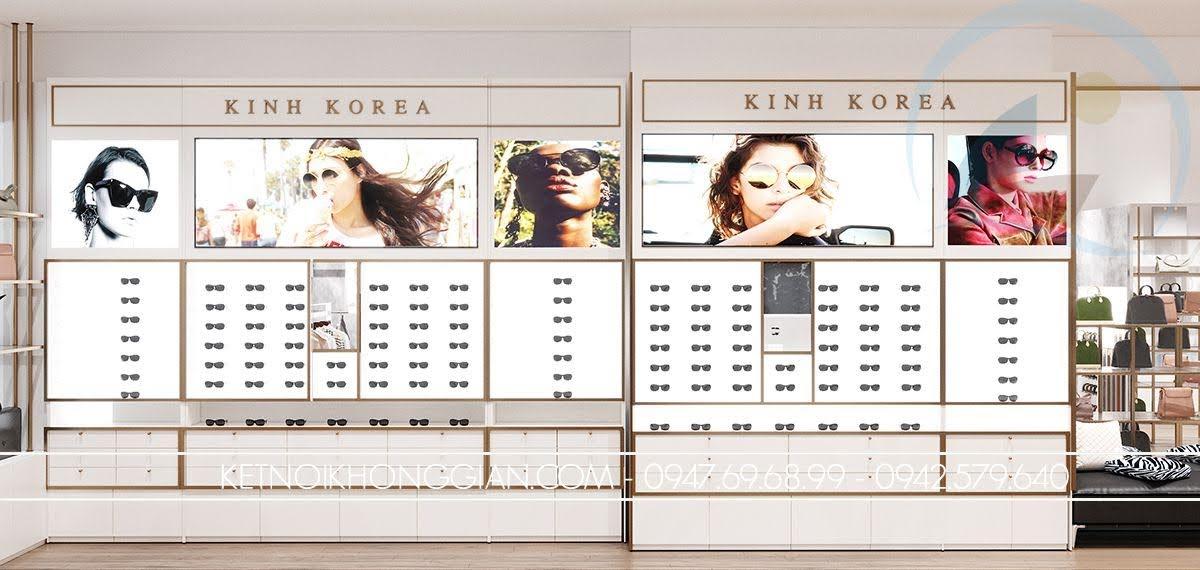 tủ trưng bày kính mắt đẹp