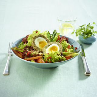 Spring Salad with Scotch Eggs