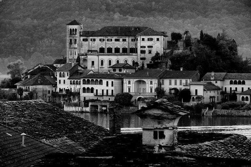 isola San Giulio vista da Orta di smpaint