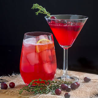 Cranberry Thyme Martini.