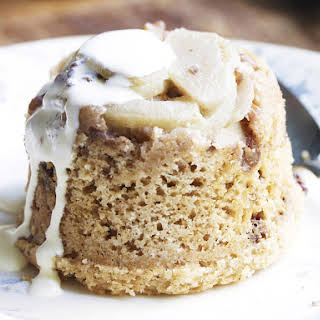 Cinnamon, Apple and Raisin Pudding.