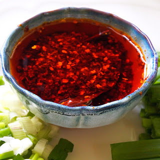Homemade Chinese Chile Oil.